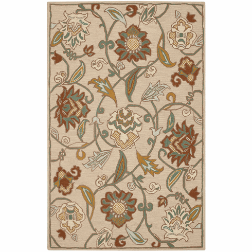 Hand Tufted Light Tan Rug