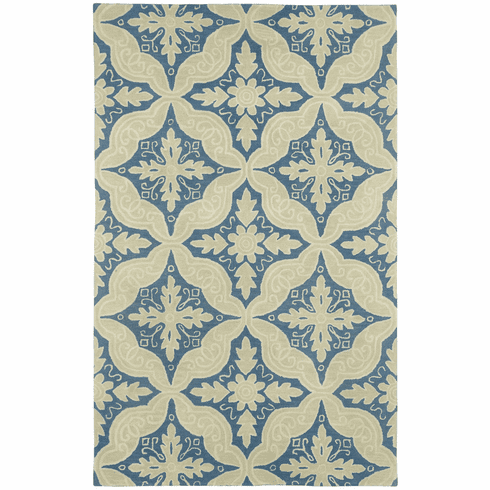 Hand Tufted Medium Blue Rug