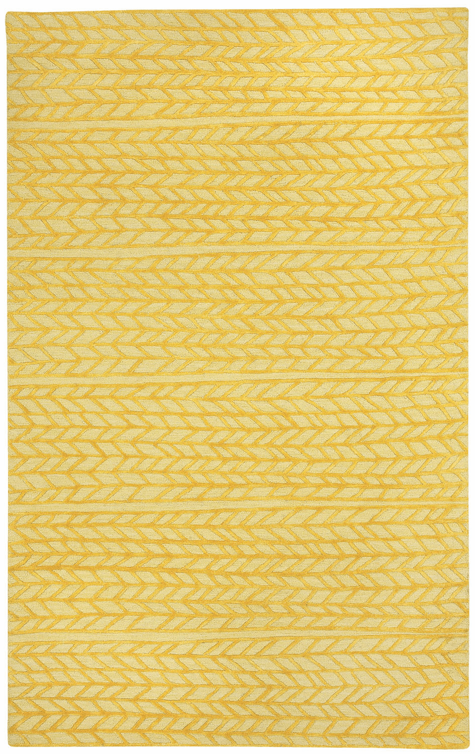 Hand Tufted Yellow Rug