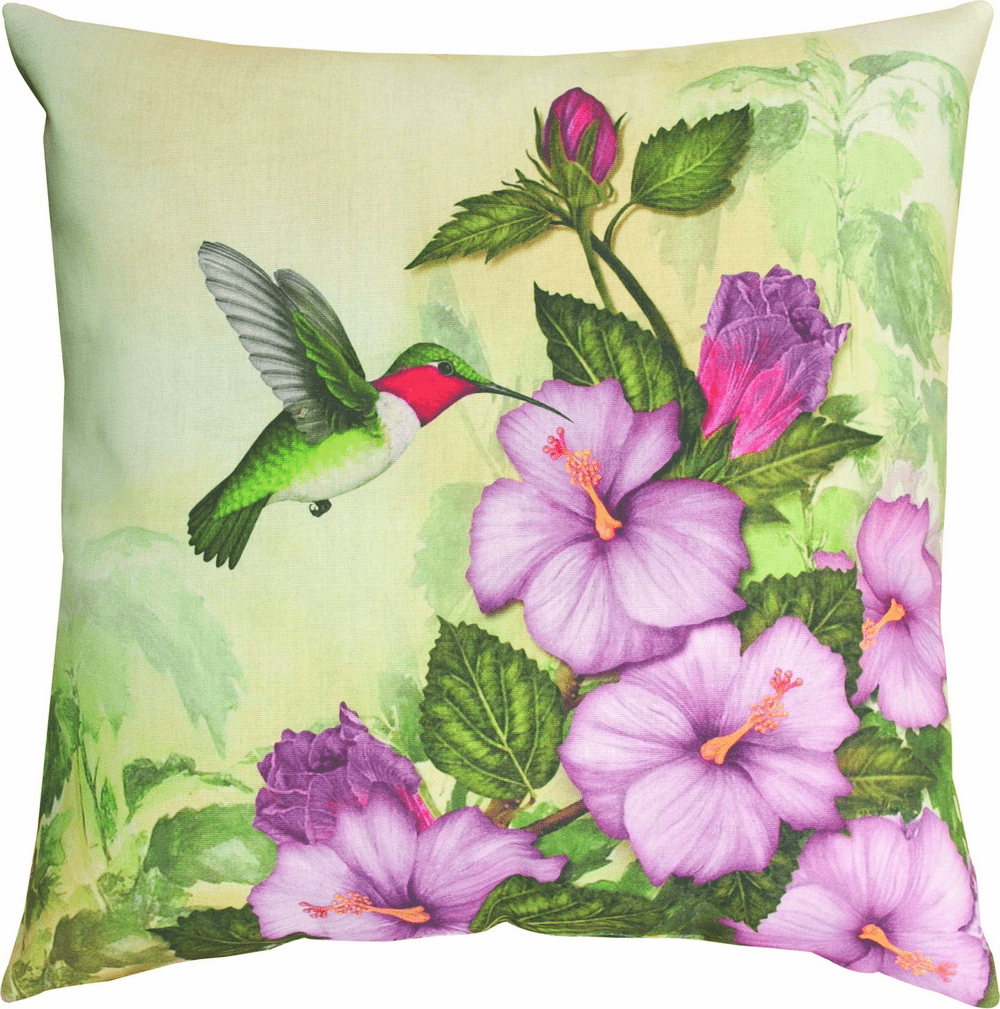 Happy Hummingbird Climaweave Pillow