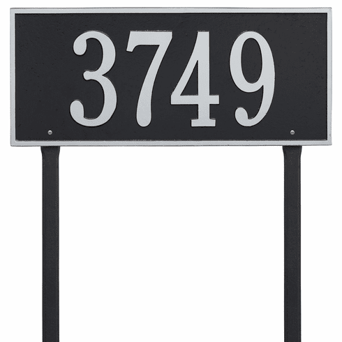 Hartford Estate Lawn One Line Plaque in Black and Silver