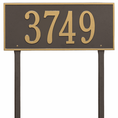 Hartford Estate Lawn One Line Plaque in Bronze and Gold