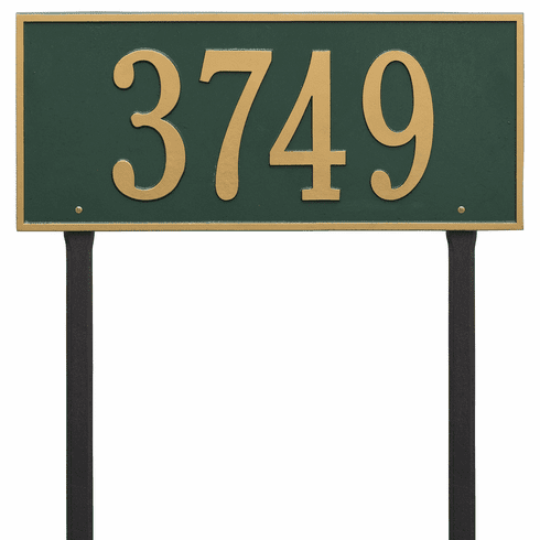 Hartford Estate Lawn One Line Plaque in Green and Gold