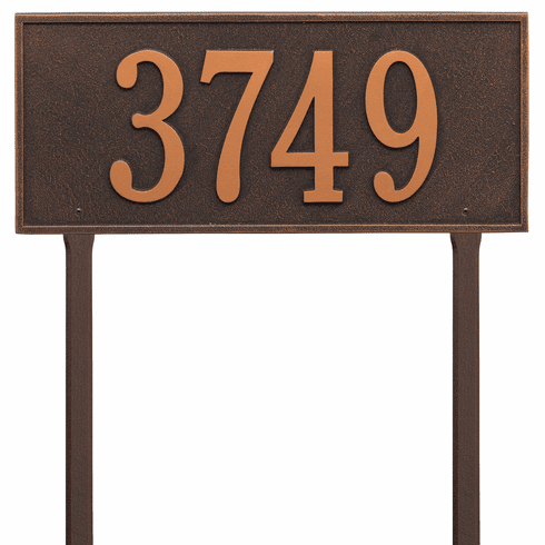 Hartford Estate Lawn One Line Plaque in Oil Rubbed Bronze