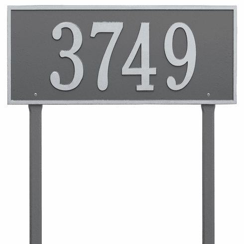 Hartford Estate Lawn One Line Plaque in Pewter and Silver