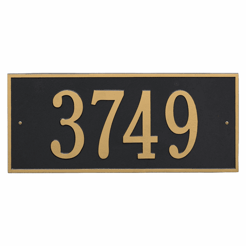 Hartford Estate Wall One Line Plaque in Black and Gold