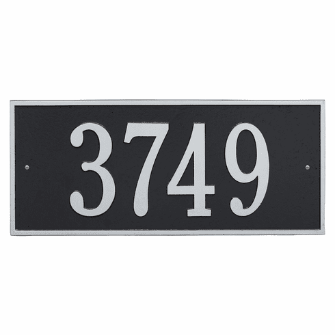 Hartford Estate Wall One Line Plaque in Black and Silver