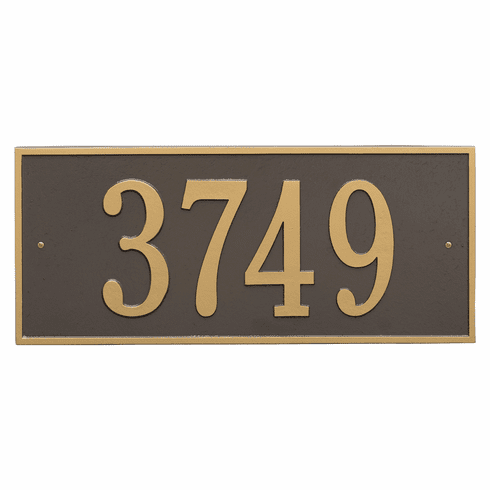 Hartford Estate Wall One Line Plaque in Bronze and Gold