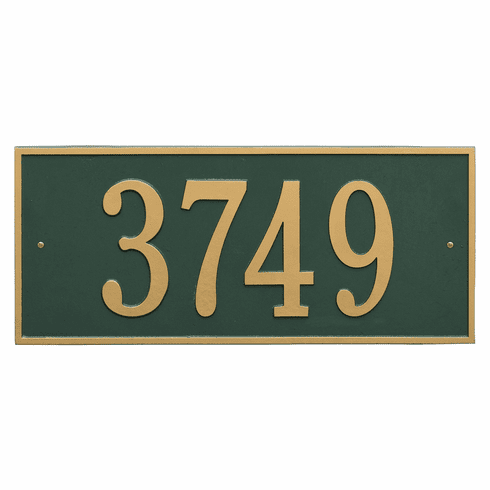 Hartford Estate Wall One Line Plaque in Green and Gold