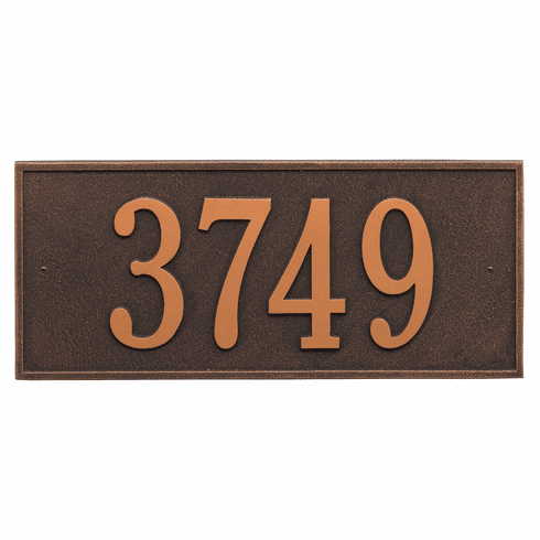 Hartford Estate Wall One Line Plaque in Oil Rubbed Bronze