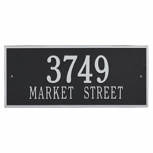 Hartford Estate Wall Two Line Plaque in Black and Silver