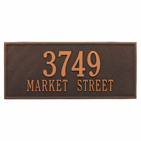 Hartford Estate Wall Two Line Plaque in Oil Rubbed Bronze