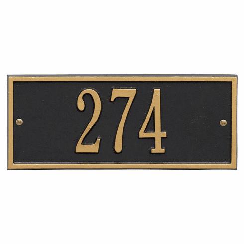 Hartford Mini Wall One Line Plaque in Black and Gold