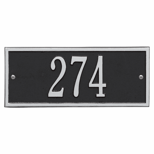 Hartford Mini Wall One Line Plaque in Black and Silver