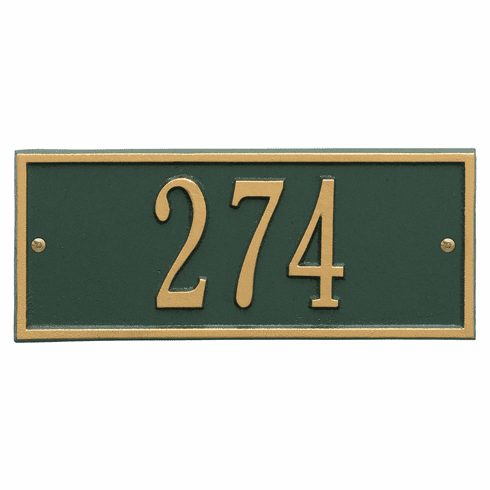 Hartford Mini Wall One Line Plaque in Green and Gold