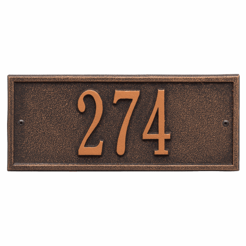 Hartford Mini Wall One Line Plaque in Oil Rubbed Bronze