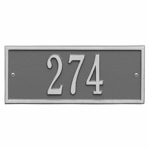 Hartford Mini Wall One Line Plaque in Pewter and Silver