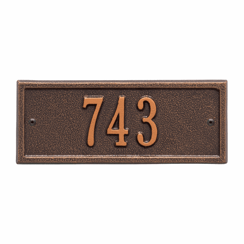 Hartford Petite Wall One Line Plaque in Antique Copper
