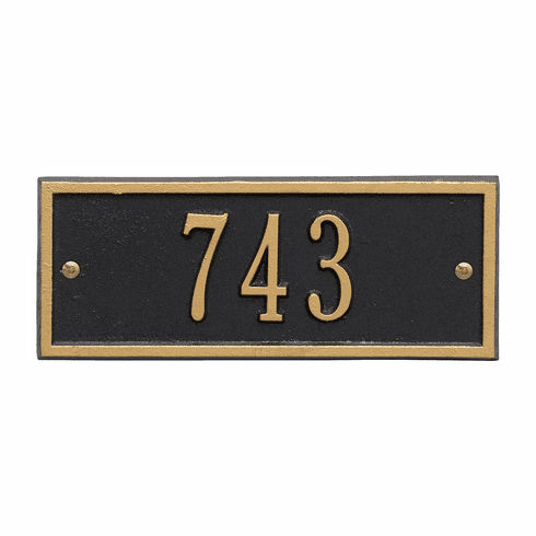 Hartford Petite Wall One Line Plaque in Black and Gold