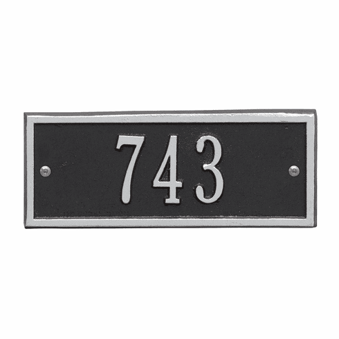 Hartford Petite Wall One Line Plaque in Black and Silver