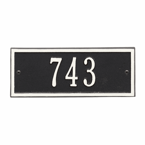 Hartford Petite Wall One Line Plaque in Black and White