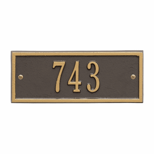 Hartford Petite Wall One Line Plaque in Bronze and Gold