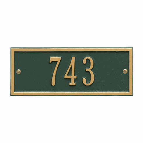 Hartford Petite Wall One Line Plaque in Green and Gold