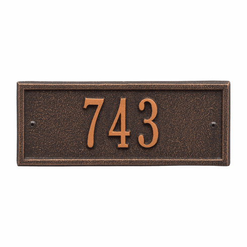 Hartford Petite Wall One Line Plaque in Oil Rubbed Bronze
