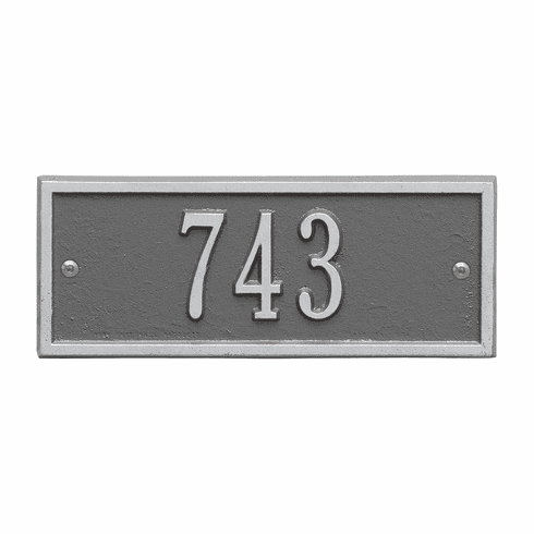 Hartford Petite Wall One Line Plaque in Pewter and Silver