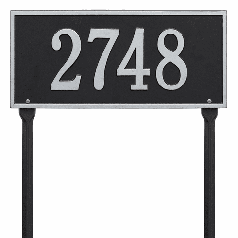 Hartford Standard Lawn One Line Plaque in Black and Silver