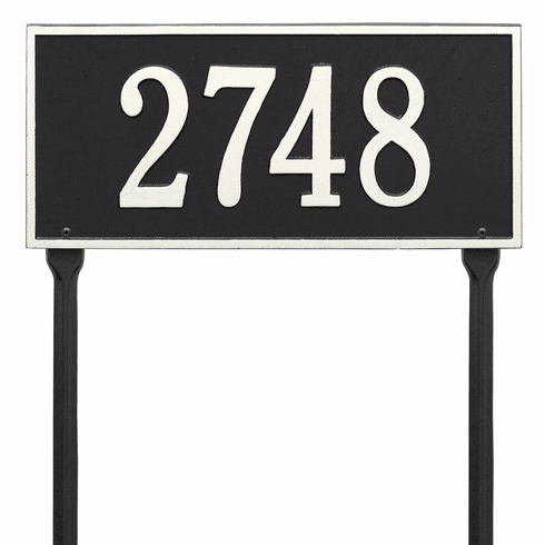 Hartford Standard Lawn One Line Plaque in Black and White
