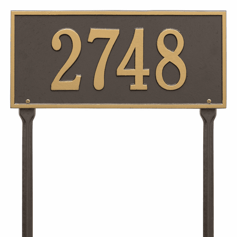 Hartford Standard Lawn One Line Plaque in Bronze and Gold