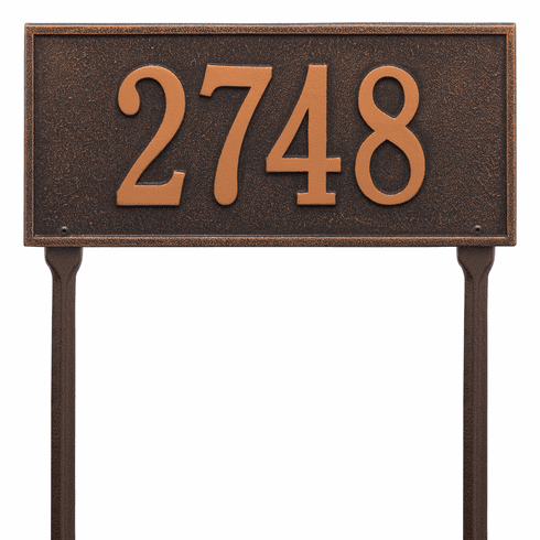 Hartford Standard Lawn One Line Plaque in Oil Rubbed Bronze
