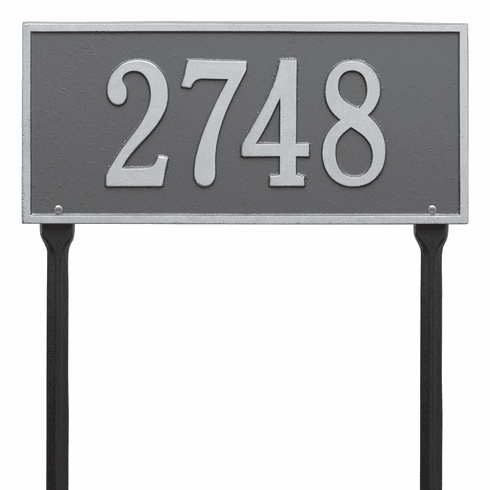 Hartford Standard Lawn One Line Plaque in Pewter and Silver