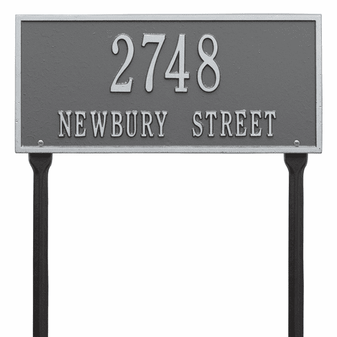 Hartford Standard Lawn Two Line Plaque in Pewter and Silver
