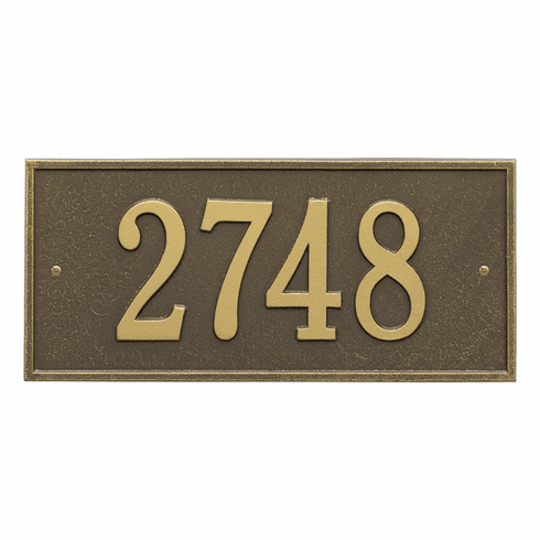 Hartford Standard Wall One Line Plaque in Antique Brass