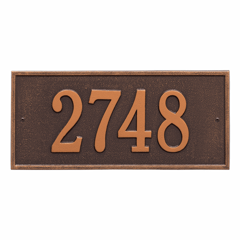Hartford Standard Wall One Line Plaque in Antique Copper
