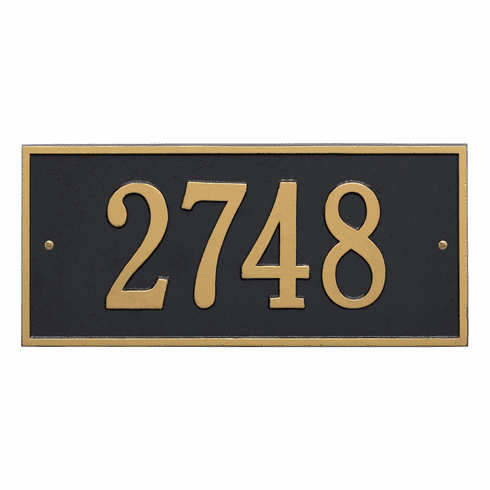 Hartford Standard Wall One Line Plaque in Black and Gold