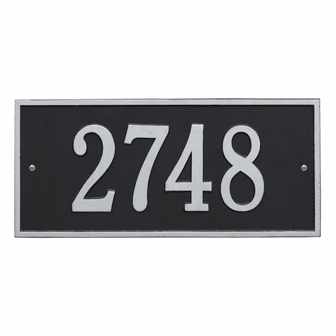 Hartford Standard Wall One Line Plaque in Black and Silver