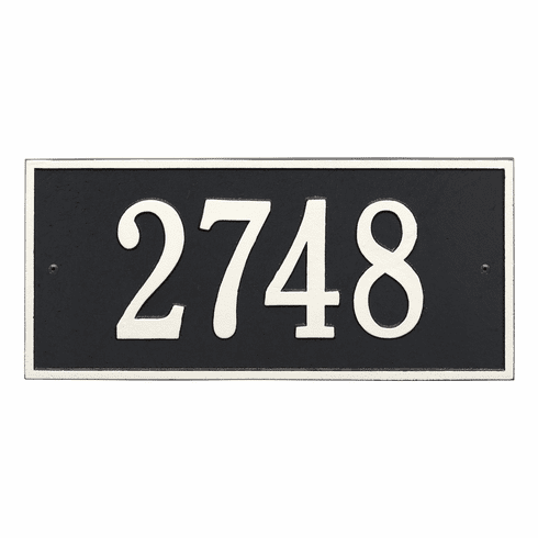 Hartford Standard Wall One Line Plaque in Black and White
