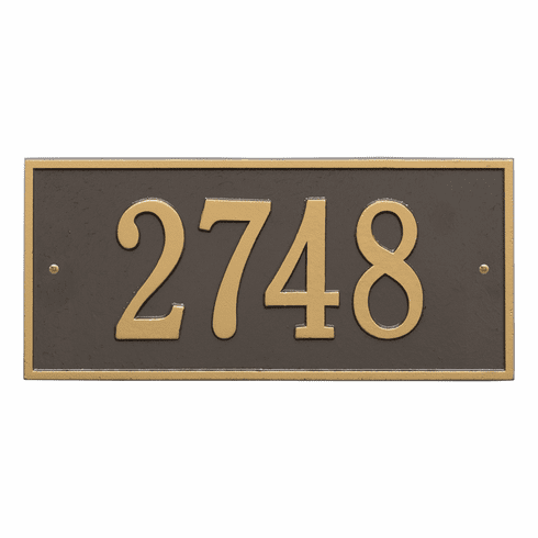 Hartford Standard Wall One Line Plaque in Bronze and Gold