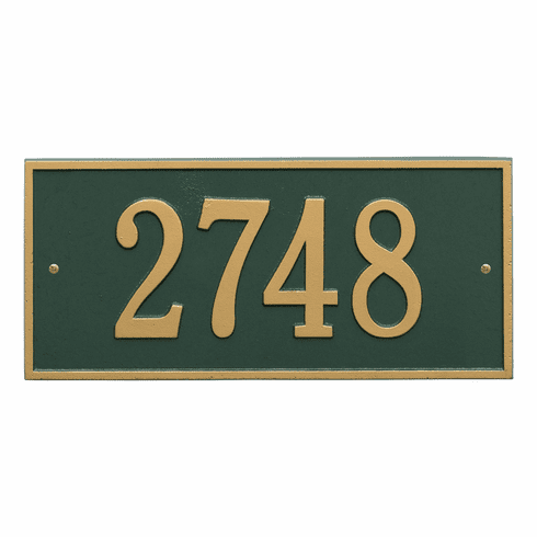 Hartford Standard Wall One Line Plaque in Green and Gold