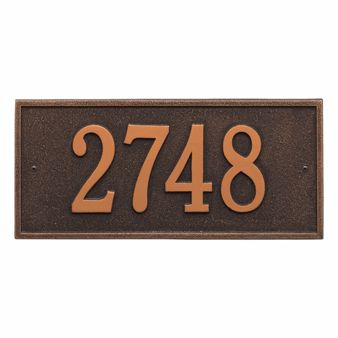 Hartford Standard Wall One Line Plaque in Oil Rubbed Bronze