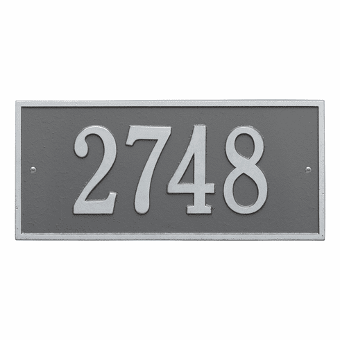 Hartford Standard Wall One Line Plaque in Pewter and Silver