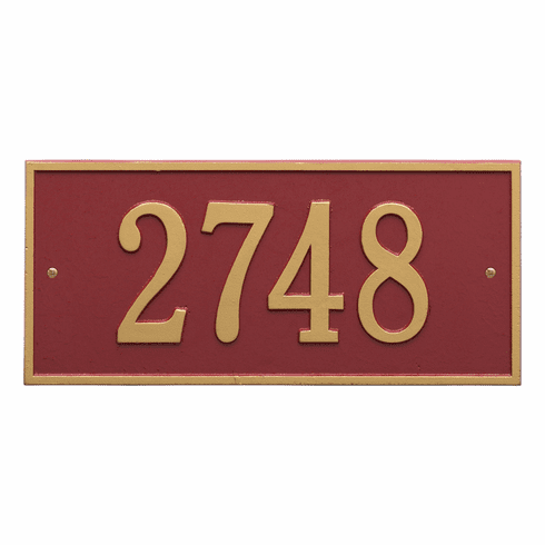 Hartford Standard Wall One Line Plaque in Red and Gold
