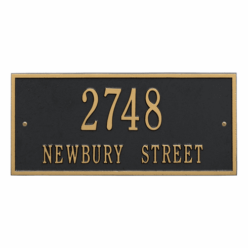 Hartford Standard Wall Two Line Plaque in Black and Gold