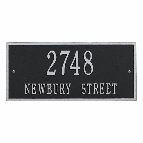 Hartford Standard Wall Two Line Plaque in Black and Silver