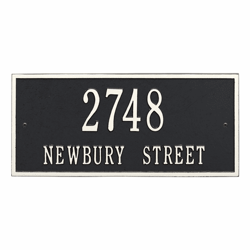 Hartford Standard Wall Two Line Plaque in Black and White