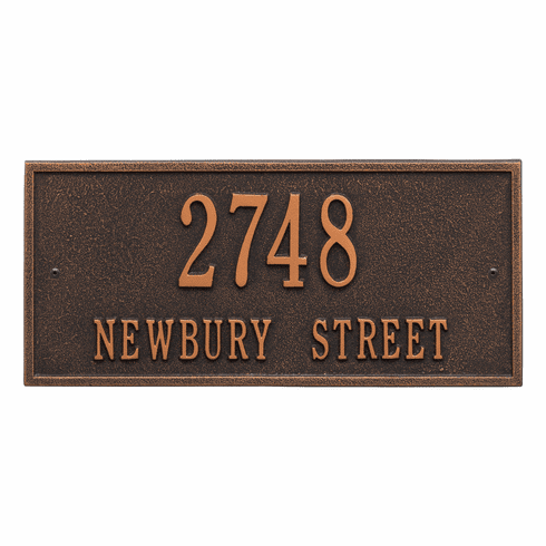 Hartford Standard Wall Two Line Plaque in Oil Rubbed Bronze