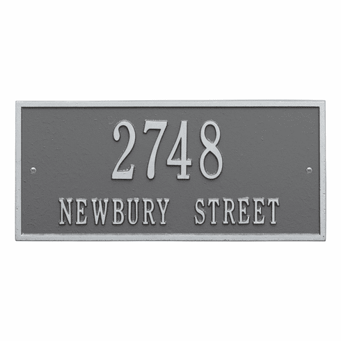 Hartford Standard Wall Two Line Plaque in Pewter and Silver